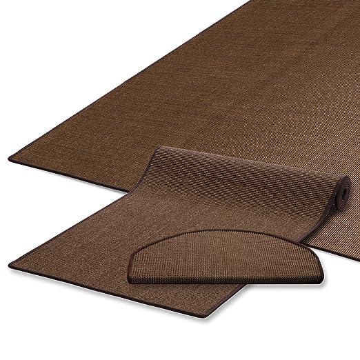 Sisal Teppich umkettelt gemustert kaffee 200x200cm 100/% Sisal braun gekettelt