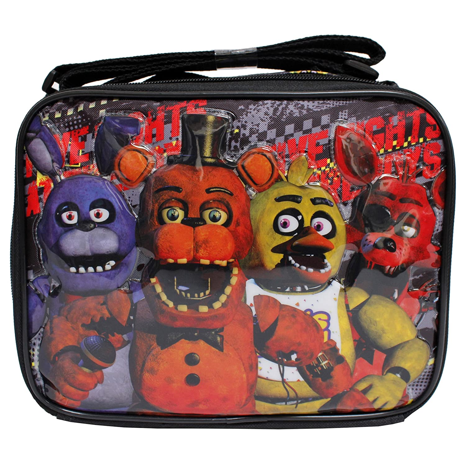 Five Nights at Freddy's New Black Insulated Boys' School Lunch Bag-All 4