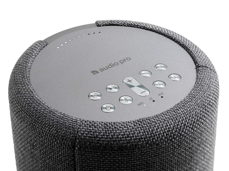 Audio Pro A10 Wireless Multi-Room WiFi Bluetooth Connected Speaker – HiFi – Compatible with Alexa – Dark Grey