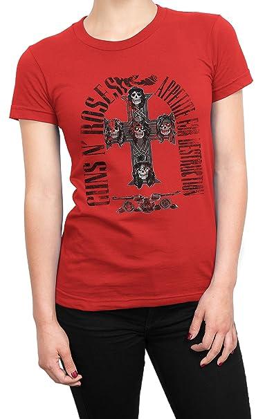 Ropa Appetite Camiseta 100 Y Print Black Guns'n Mujer es Destruction Accesorios Amazon Algodòn For Lamaglieria Roses BUwfCqf