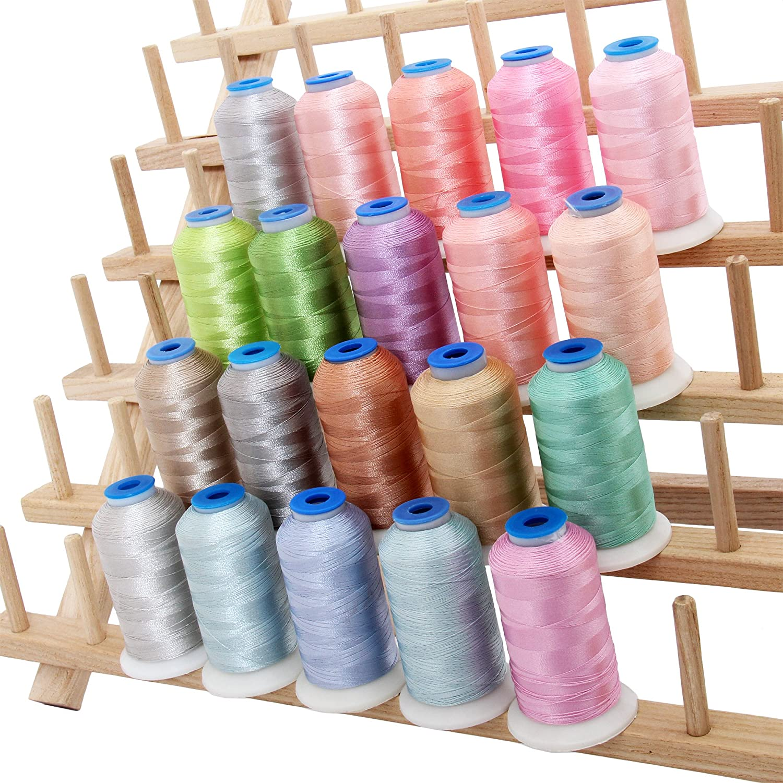 20 Cone Rayon Embroidery Thread Set - Pastel Colors - 1000m Cones - Threadart 4337016017