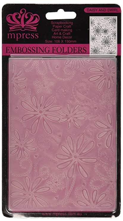 Amazon Com Crafts Too Embossing Folder 4 By 6 Inch Daisy And Swirl