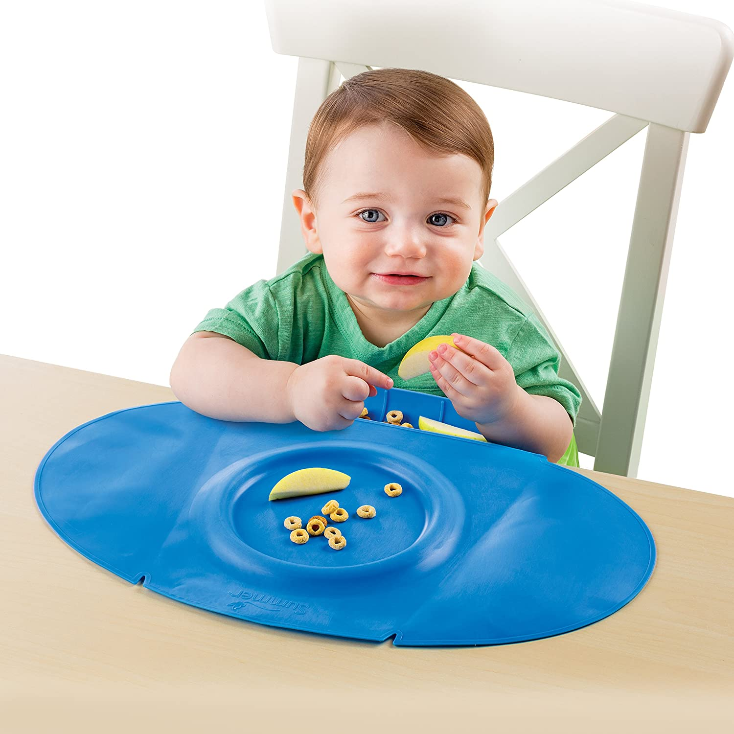 Amazon.com : Summer Infant Tiny Diner 2 Portable Placemat, Blue : Baby