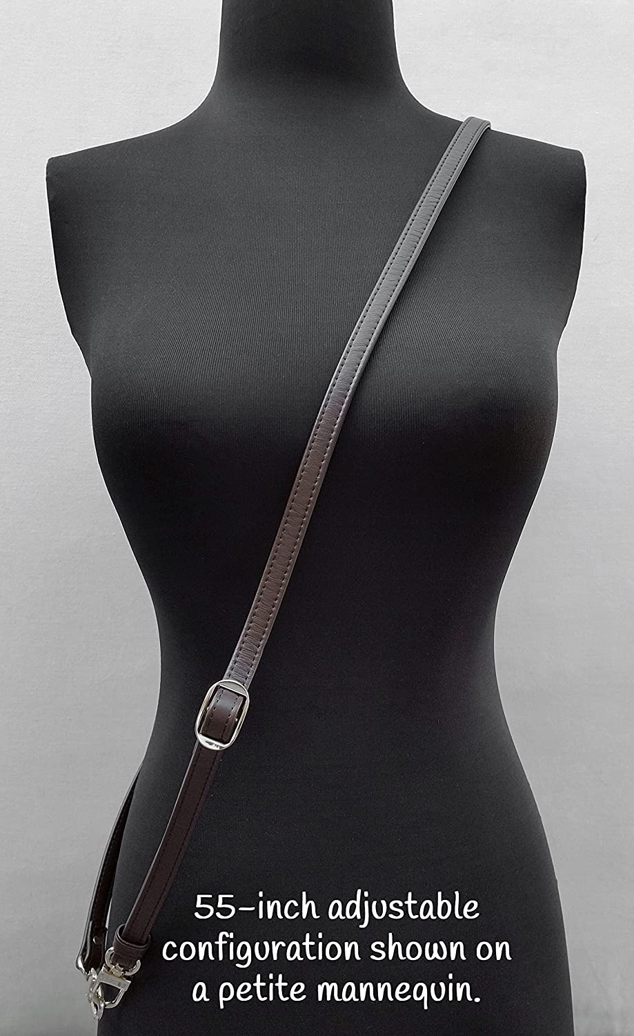Mautto Dark Brown Genuine Leather Handbag//Purse Adjustable Strap for Petite Bags