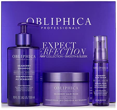 Amazon.com: Obliphica Professional Expect Perfection Sleek & Smooth Seaberry Collection, 20.7 oz.: Luxury Beauty
