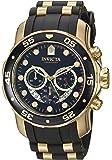 Invicta Men's Pro Diver Quartz Watch with Chronograph Display and PU Strap