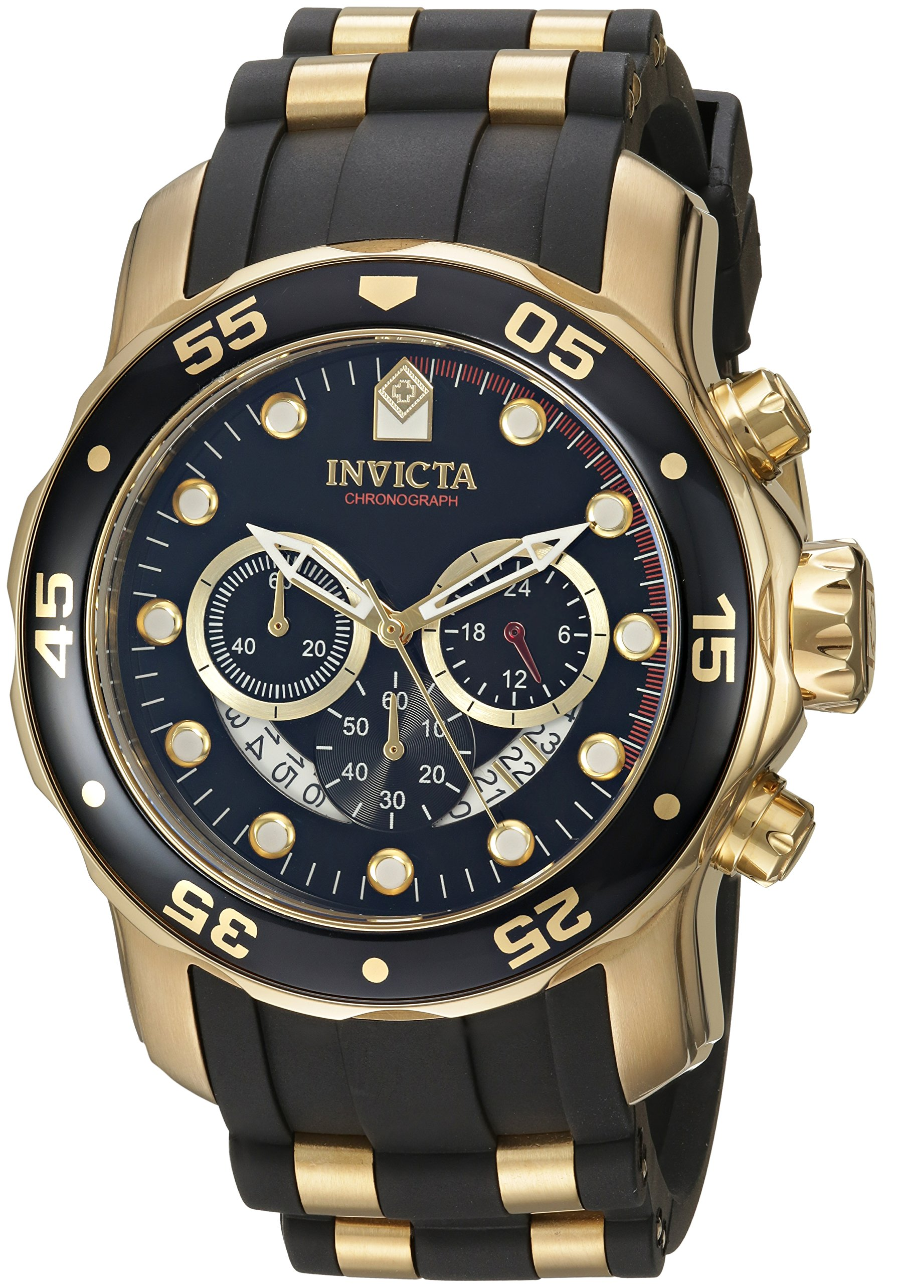 ad25876629f Original Invicta Men 6981 Pro Diver Analog Swiss Chronograph Black Gold  Watch
