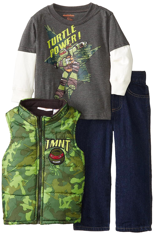 Nickelodeon Boys' 3 Piece Teenage Mutant Ninja Turtle Vest Set