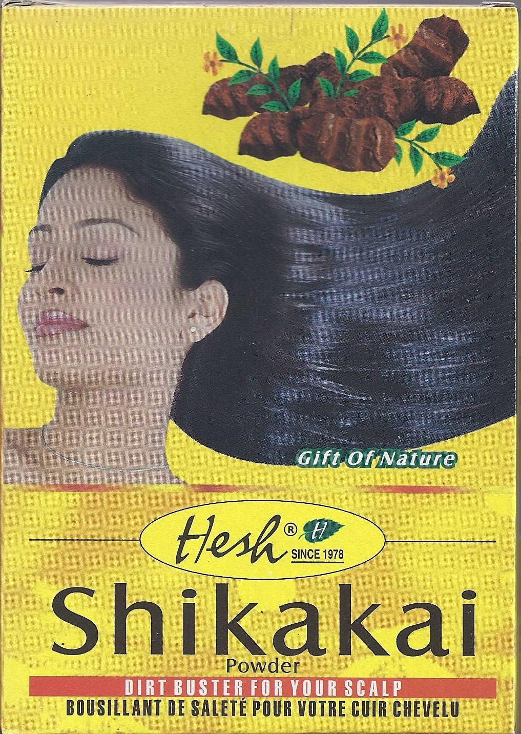 Shikakai Powder 3.5oz (100g) - Hesh Pharma (Pack of 6) by Hesh