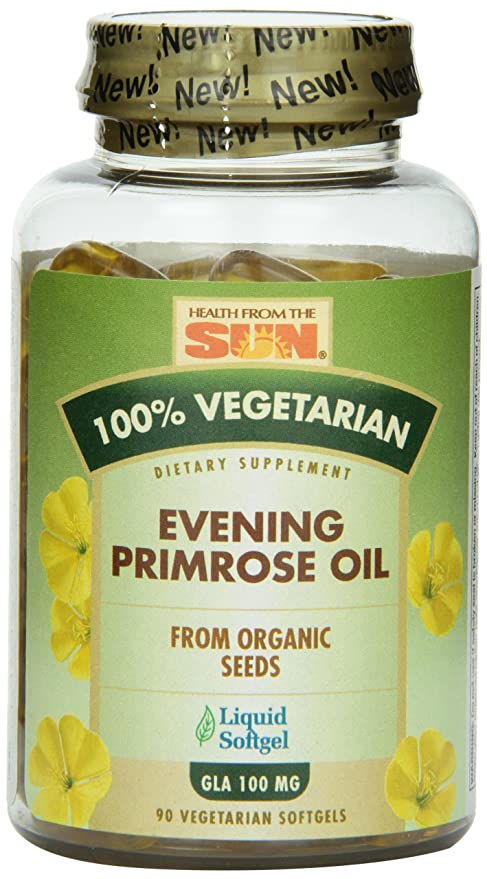 b8c7647fa6f5 Health From The Sun 100% Vegetarian Evening Primrose Oil Softgels ...