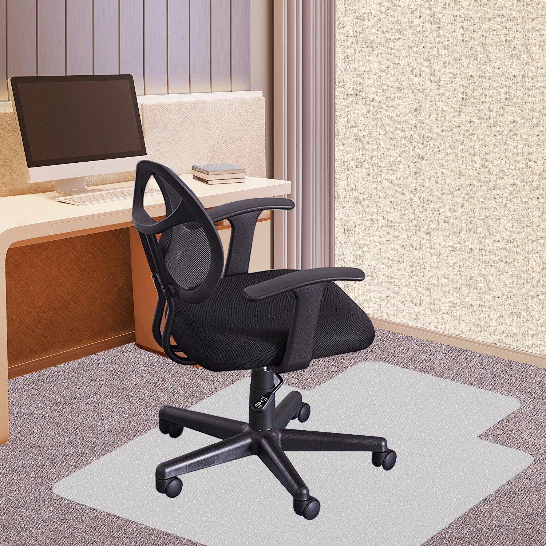 Rackarster Carpet Chiar Mat, 36'' x 48'' PVC Desk Chair Mat for Low, Standard and Medium Pile Carpets, Transparent