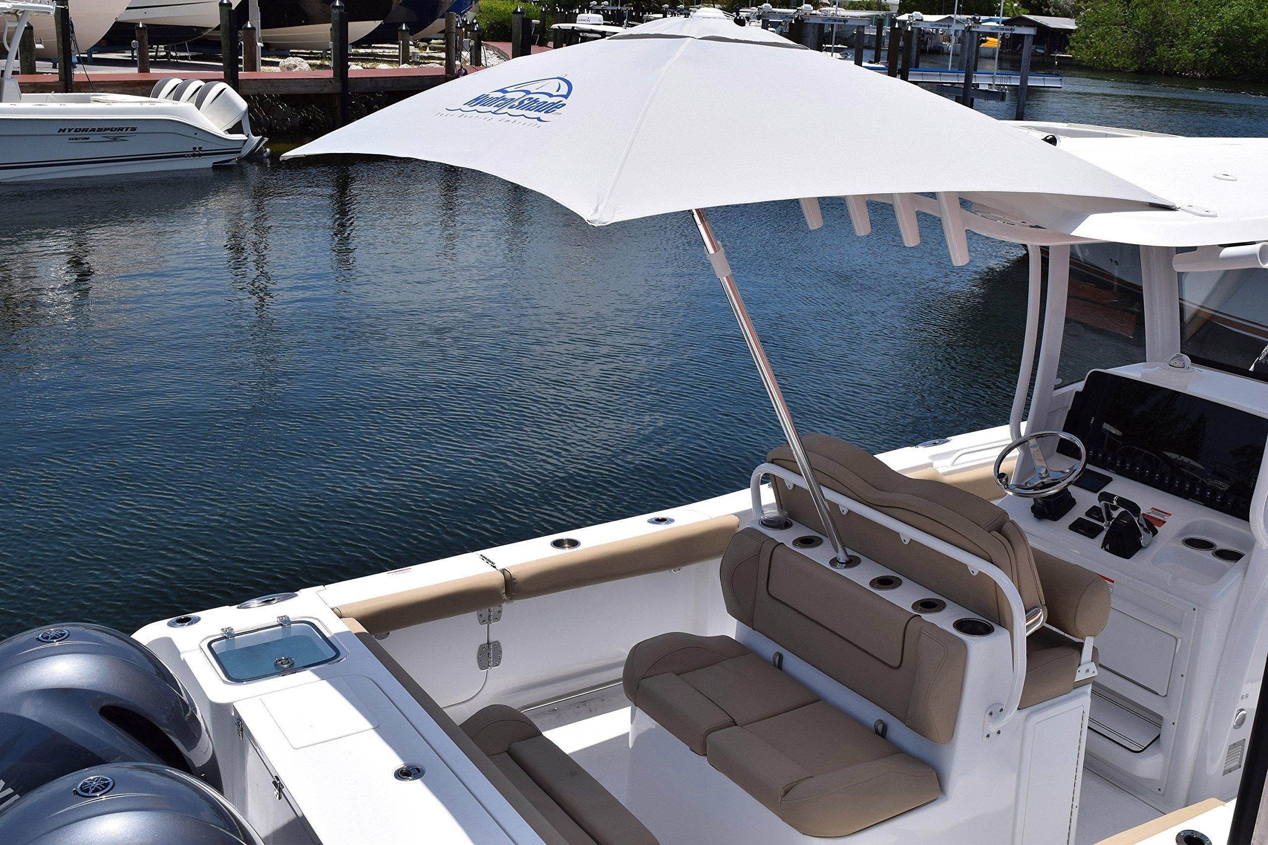 Hospitality Rattan XL-150 Hydra Shade 8' Square Boating & Beach Umbrella Kit, White by Hospitality Rattan (Image #3)