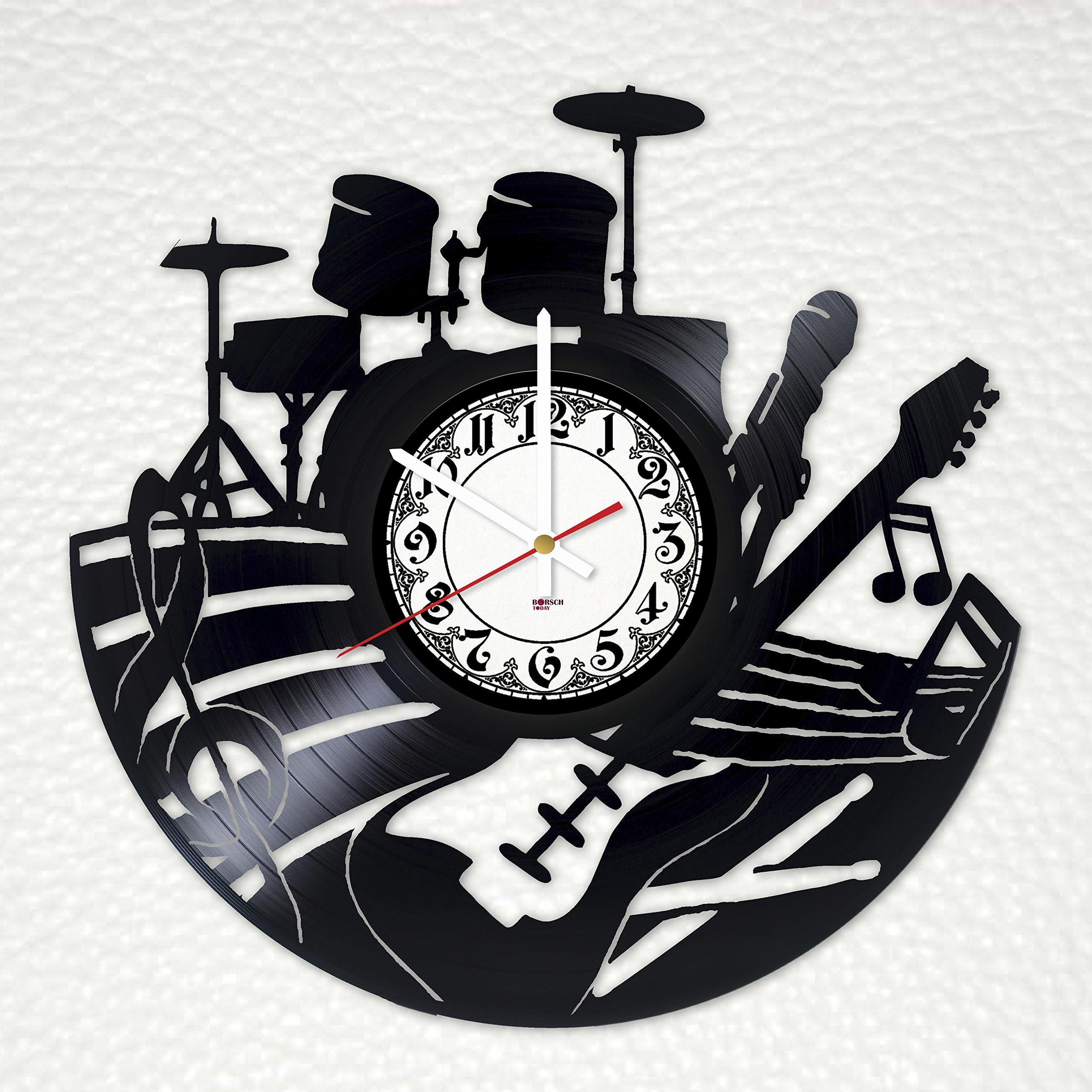 Music Decor Handmade Vinyl Record Wall Clock - Get unique home room wall decor - Gift ideas friends, parents – Dance Unique Modern Art Design