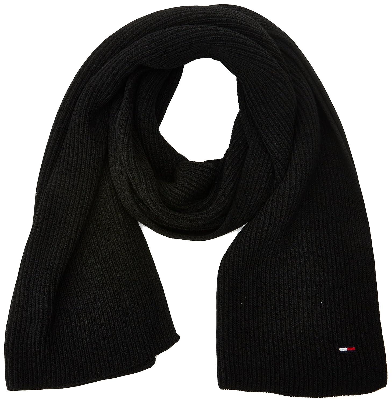 TALLA Talla única (Talla del fabricante: OS). Tommy Hilfiger Basic Knit Denim Scarf, Bufanda para Mujer