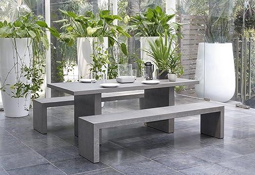 MACABANE 820000 salón de jardín, hormigón, 97 x 208 x 21 cm: Amazon.es: Jardín