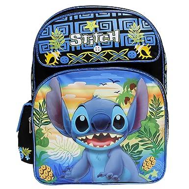 dc6ff20523d6 Disney Lilo   Stitch Black   Blue Large 16 quot  ...