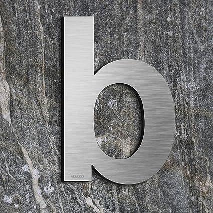 qobobo® Letra Casa b Número Vivienda Calle de 304 Acero Inoxidable , 200 mm