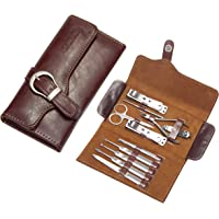 Manicure Pedicure Set, Nail Kit, 11pc-Blesem Quality Stainless Steel Tools, Large Strong Wide Jaw Clippers, Nail Cutter Kit, Cuts Thick Toenails, Women's & Men's Nail Care Gift, Fingernail Clipper Case