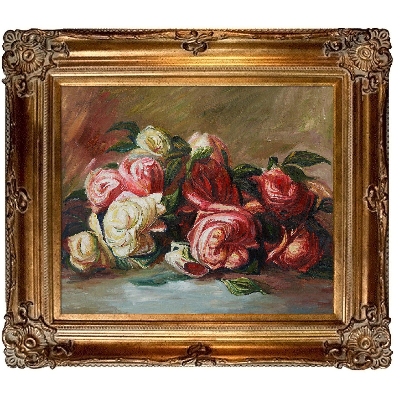 OverstockArt Renoir Discarded Roses with Renaissance Bronze Frame