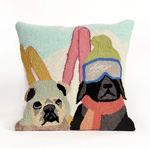 Liora Manne Frontporch Indoor Outdoor Pillow, 18 Square, Ski Patrol