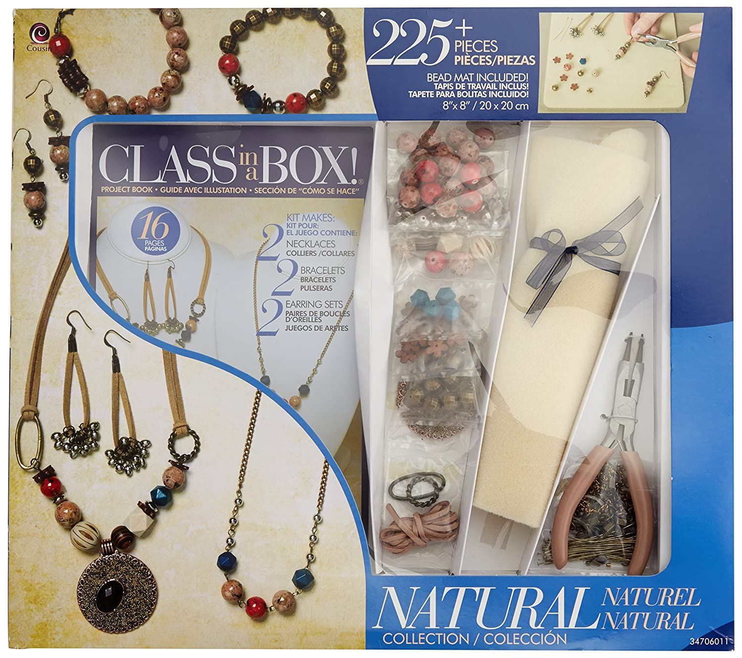 Amazon.com: Class in a Box by Cousin 34706011 Natural Collection Jewelry Making Kit
