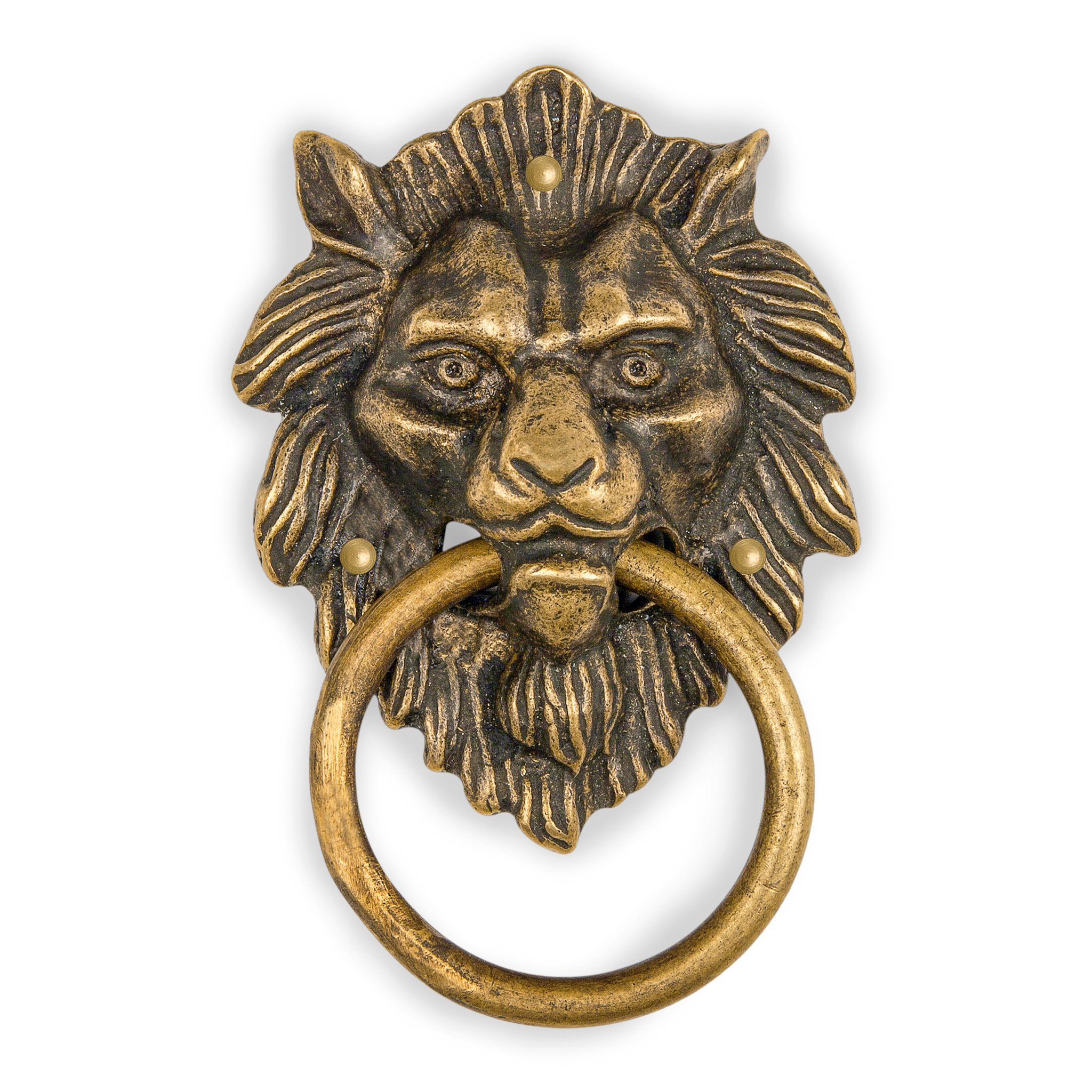 CBH Golden Hair Lion Brass Door Gate Pull Hardware 4''