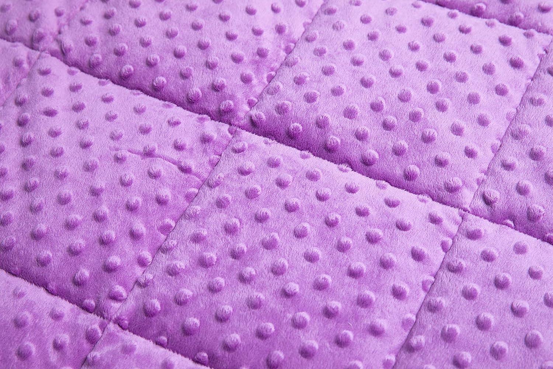 200cm Couverture Ponderee Violet ZLT-LG135-4 Daverose Couverture Lest/ée Enfants 4 kg 135
