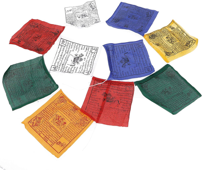 Guru-Shop Tibetische Gebetsfahne in Verschiedenen L/ängen Gebetsfahnen Wimpel 12x12 Cm L/änge: 1,5 m Lang 10 Wimpel//Baumwolle