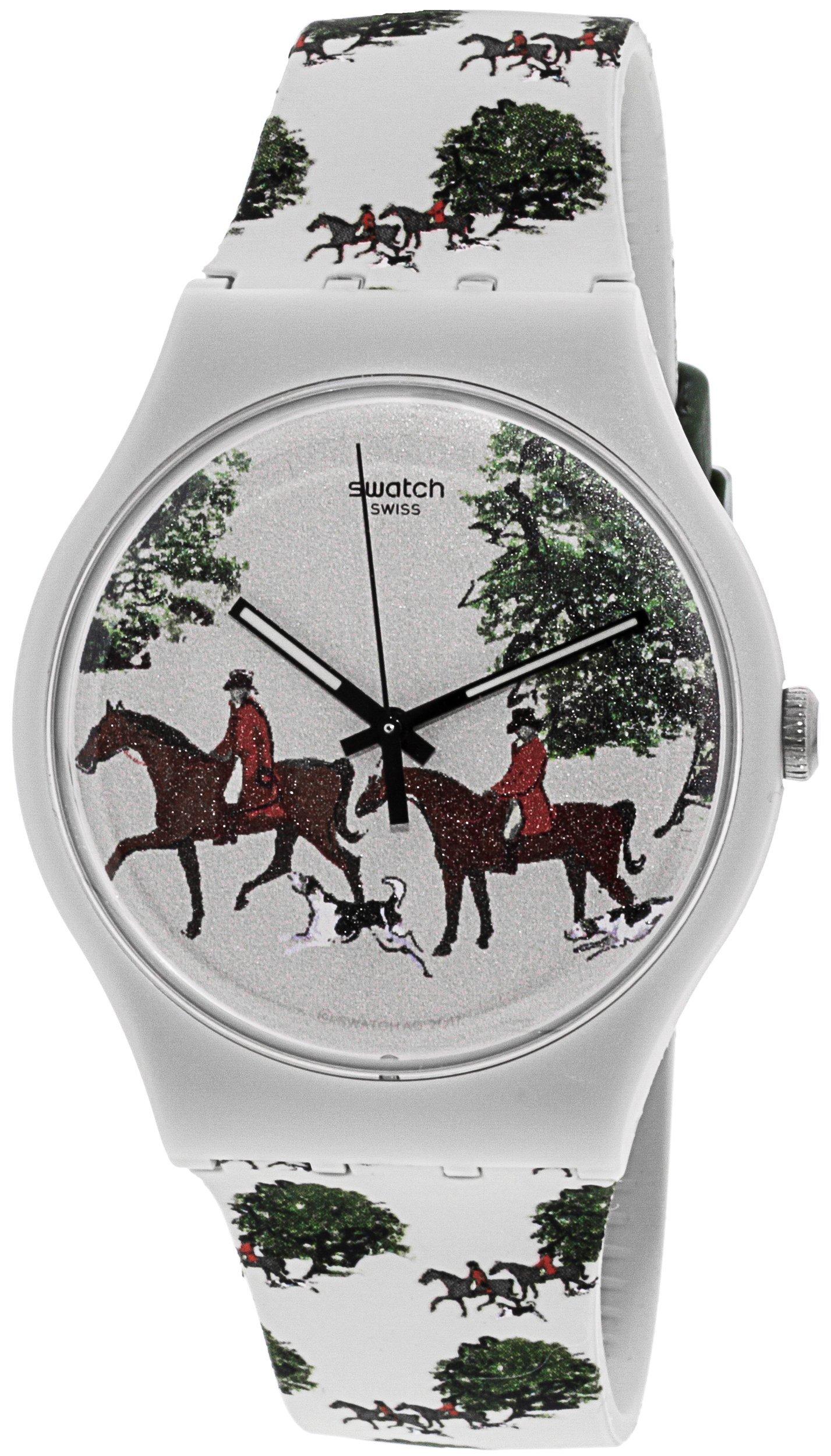Swatch Red Jacket SUOT103 Tan Silicone Swiss Quartz Fashion Watch by Swatch
