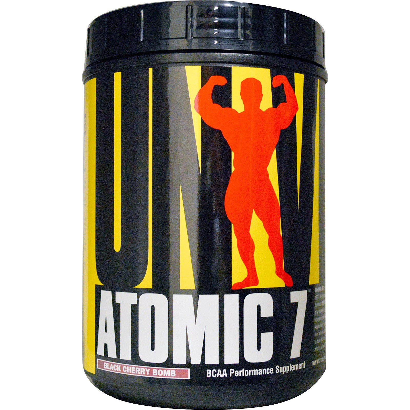 Universal Nutrition, Atomic 7, BCAA Performance Supplement, Black Cherry Bomb, 2.2 lb (1 kg) - 2pc