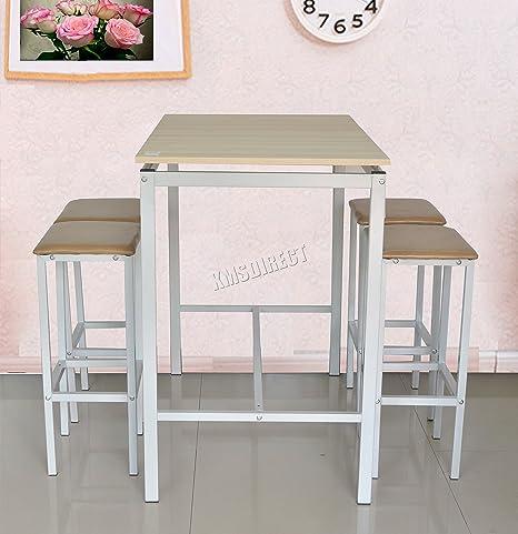 FoxHunter BTS01 - Mesa de comedor con 4 taburetes bc7909cfc330