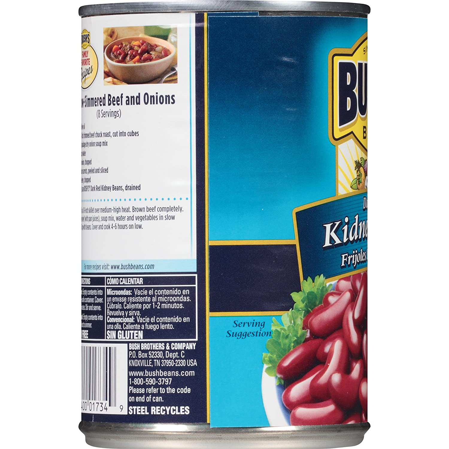 Bushs Best Dark Red Kidney Beans, 16 oz (12 cans)