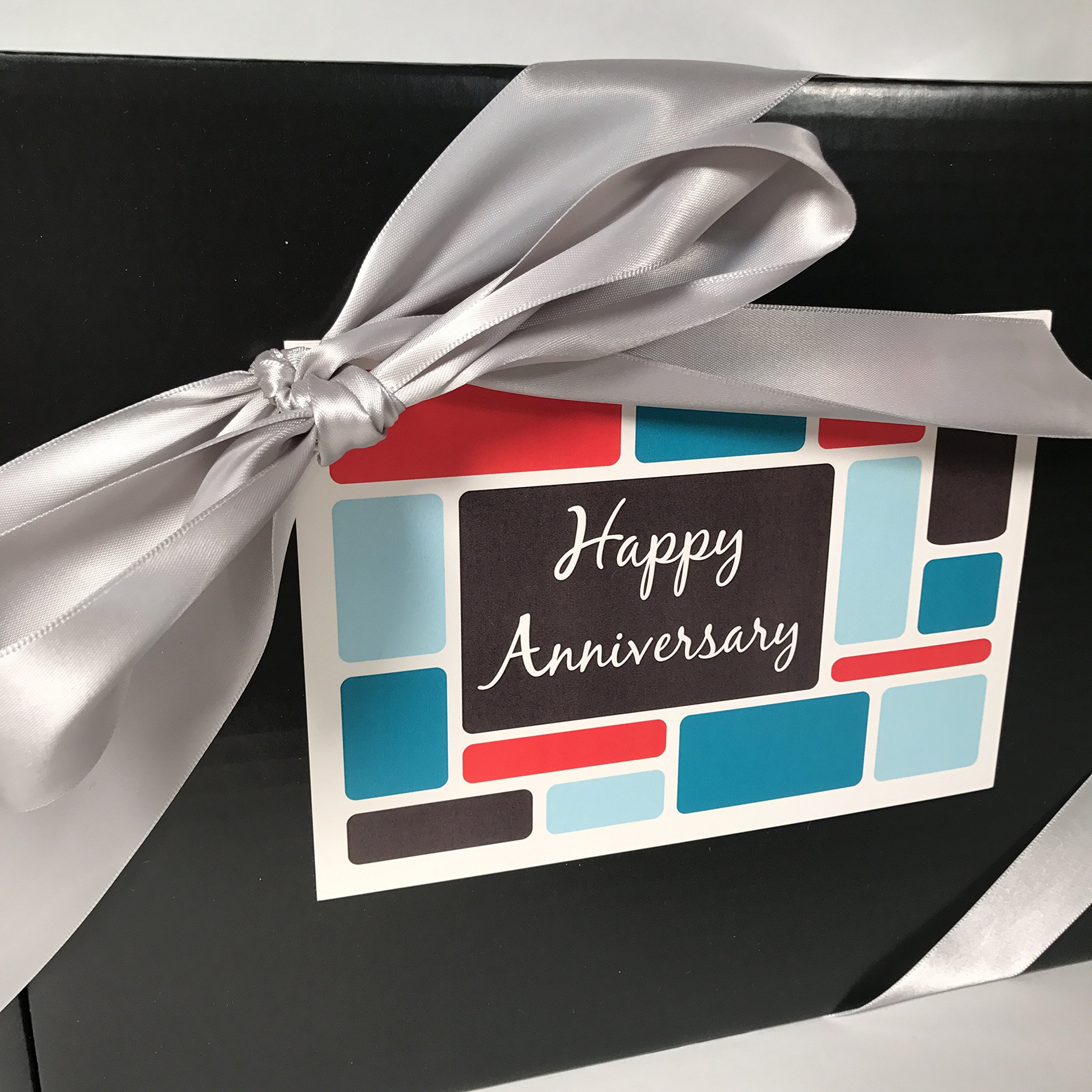 Gourmet Happy Anniversary Gift Basket Box Prime - Almost 4 Pounds - Remember a Special Couple with this Special Box - Great for 25th 25 and 50th 50 Marriage Anniversaries and also Work Anniversaries! by Specialty Gift Boxes (Image #2)