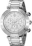 Versace Men's 'REVE CHRONO' Swiss Quartz Stainless Steel Casual Watch, Color:Silver-Toned (Model: VQZ070015)