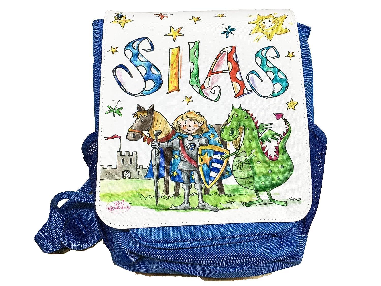 Kindergartenrucksack mit Namen, Ritter Burg, personalisiertes Kindergartengeschenk, Weihnachtsgeschenk für Kinder, Rosirosinchen, personalisierter Kinderrucksack