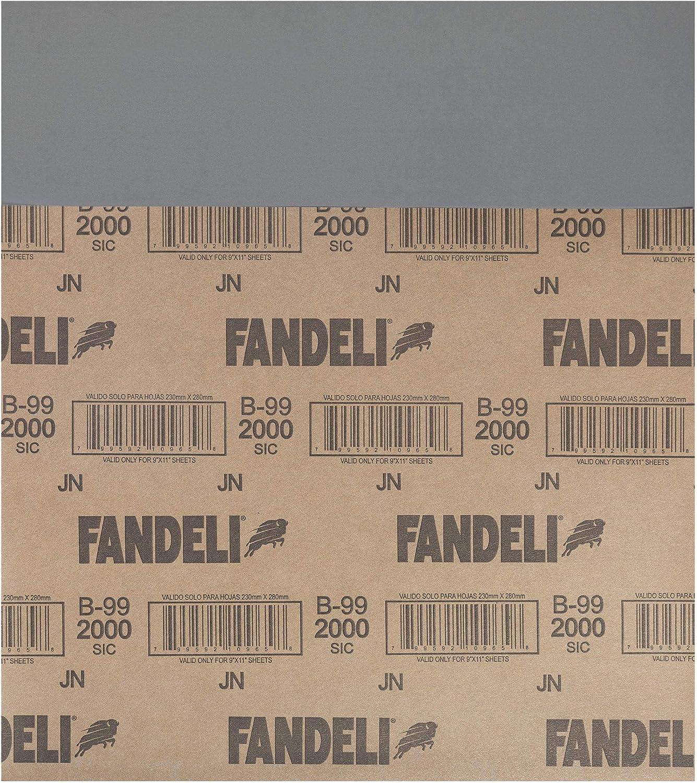 25-Sheet 9  x 11 Fandeli International Corporation 9  x 11 Fandeli 36008 2000 Grit Waterproof Sandpaper Sheets