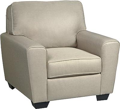 Amazon Com Empierre Beige Linen Club Chair Amp Footstool