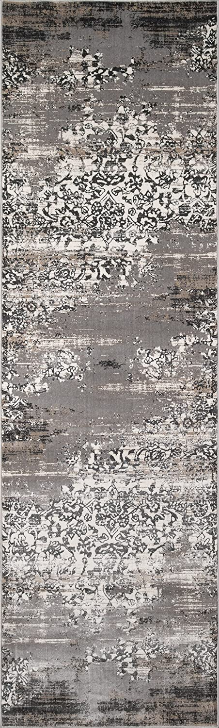 Momeni Rugs JULIEJU-05GRY2030 Juliet Collection Transitional Area Rug, 2' x 3', Grey 2' x 3' Inc.