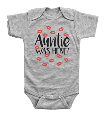 79de2ecae Baffle Auntie was HERE/Funny Red Kisses Onesie from Aunt/Baby Shower Baby (