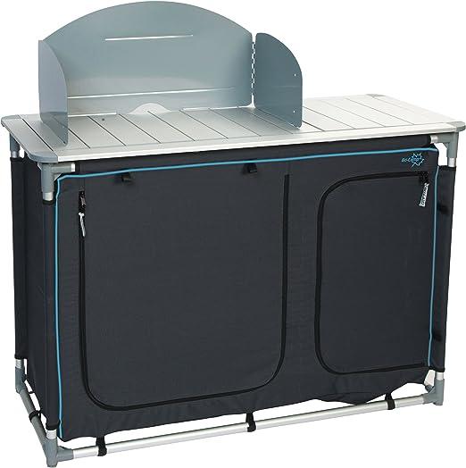 Bo-Camp Deluxe - Armario de Cocina con Fregadero 2 Compartimentos + balda Superior + protección contra el Viento