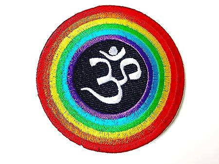 Aum om Infinity Hindu Hinduism Yoga Rainbow Retro Logo ...
