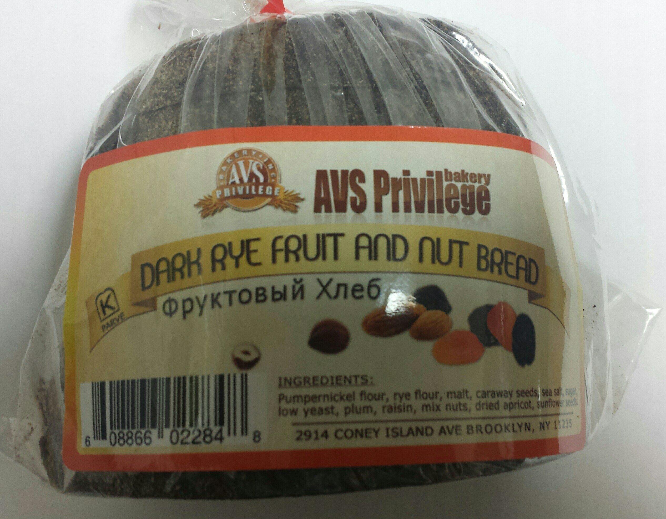 European Fruit & Nut Dark Rye Bread Pack of 4 by Gourmet Market Bakery