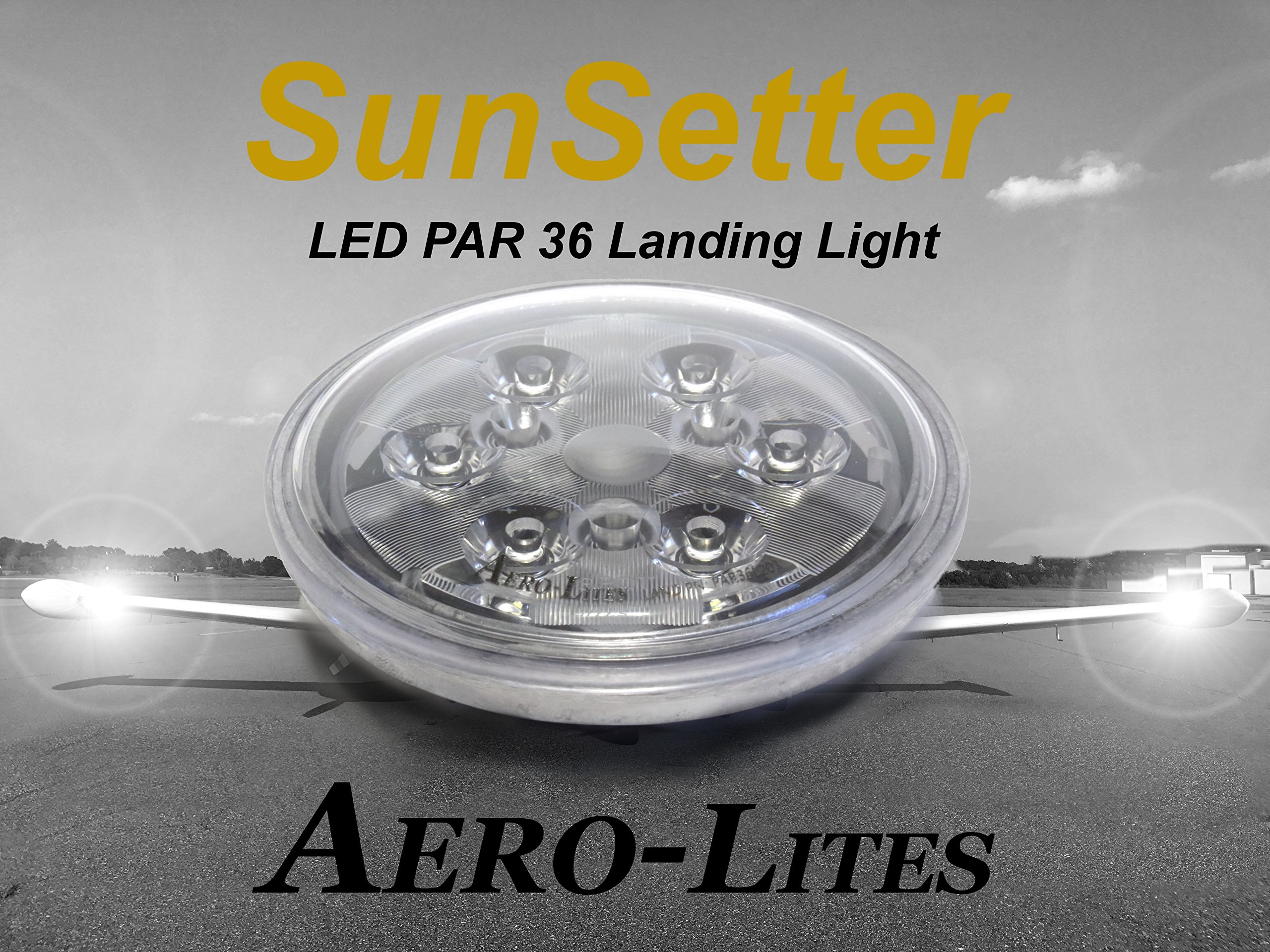 Aero-Lites LED Landing Light - PAR36 Drop-in Replacement for GE4509 14-28 volt by Aero-Lites