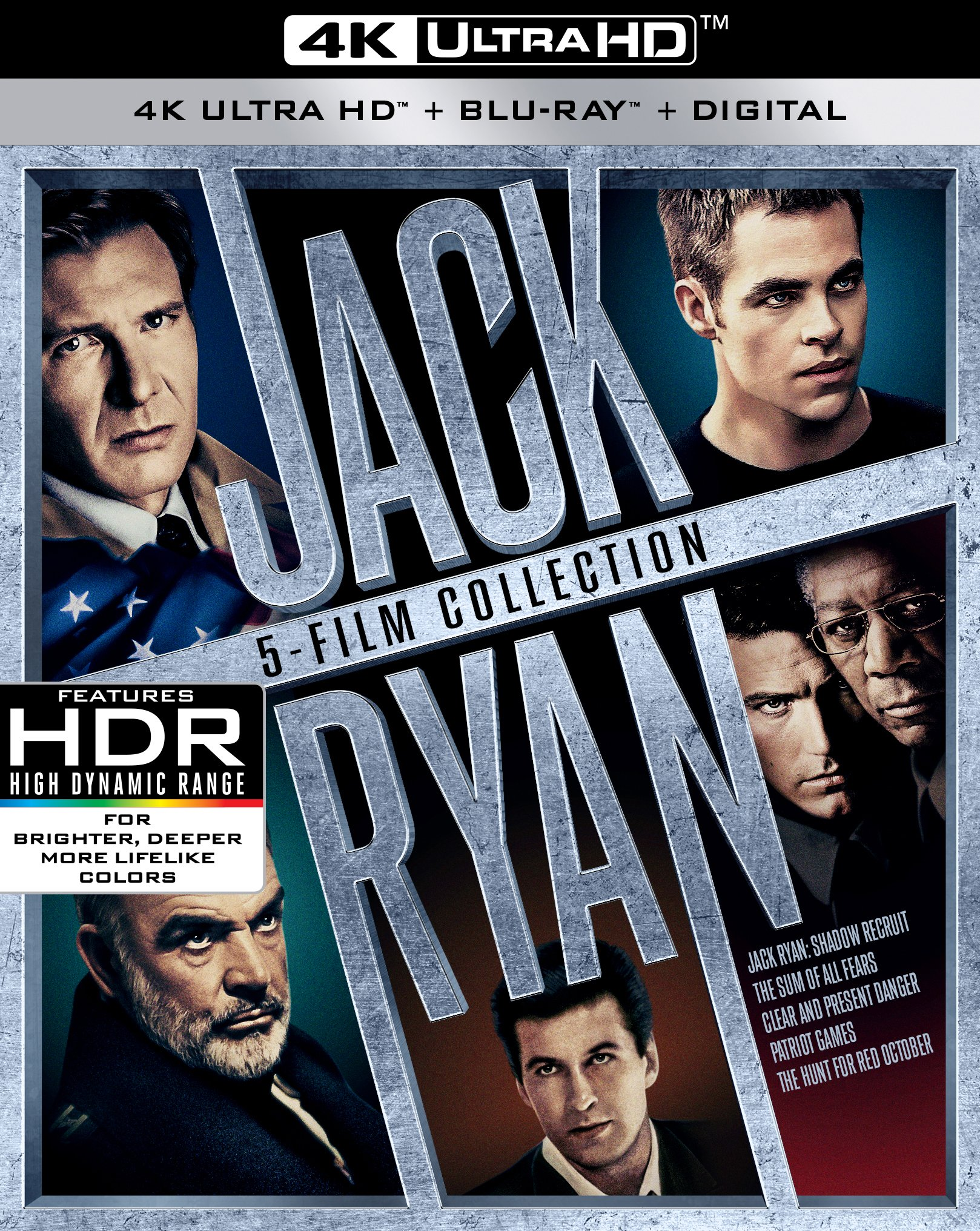 4K Blu-ray : Jack Ryan: 5-movie Collection (With Blu-ray, Boxed Set, 4K Mastering, Digitally Mastered in HD, O-Card Packaging)