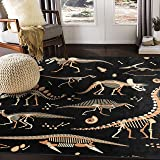 "ALAZA Skeleton of Dinosaur Animal Print Area Rug Rugs for Living Room Bedroom 5'3""x4'"