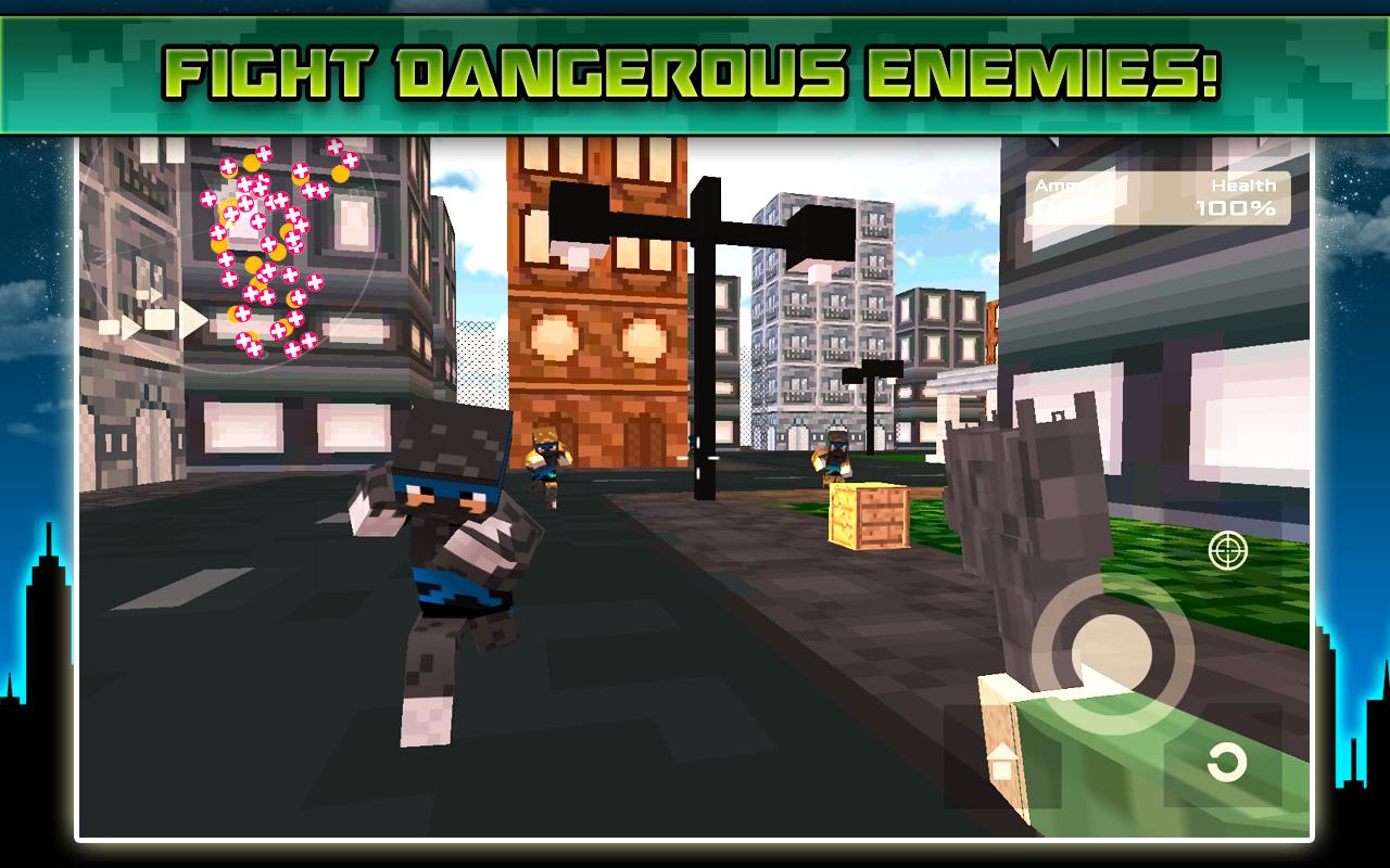 Mutant Survival Block Ninja Shooter Pixel Games: Amazon.es ...