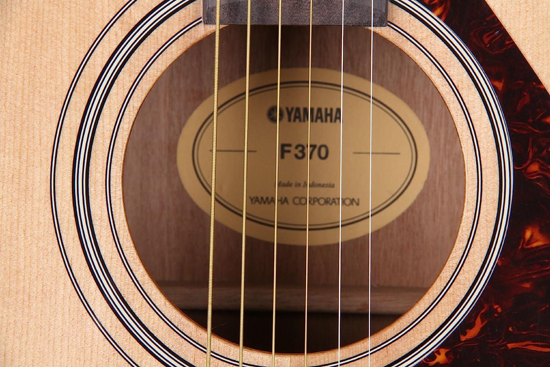 Yamaha F370 Guitarra Acústica Guitarra Folk 4/4 de madera, escala ...