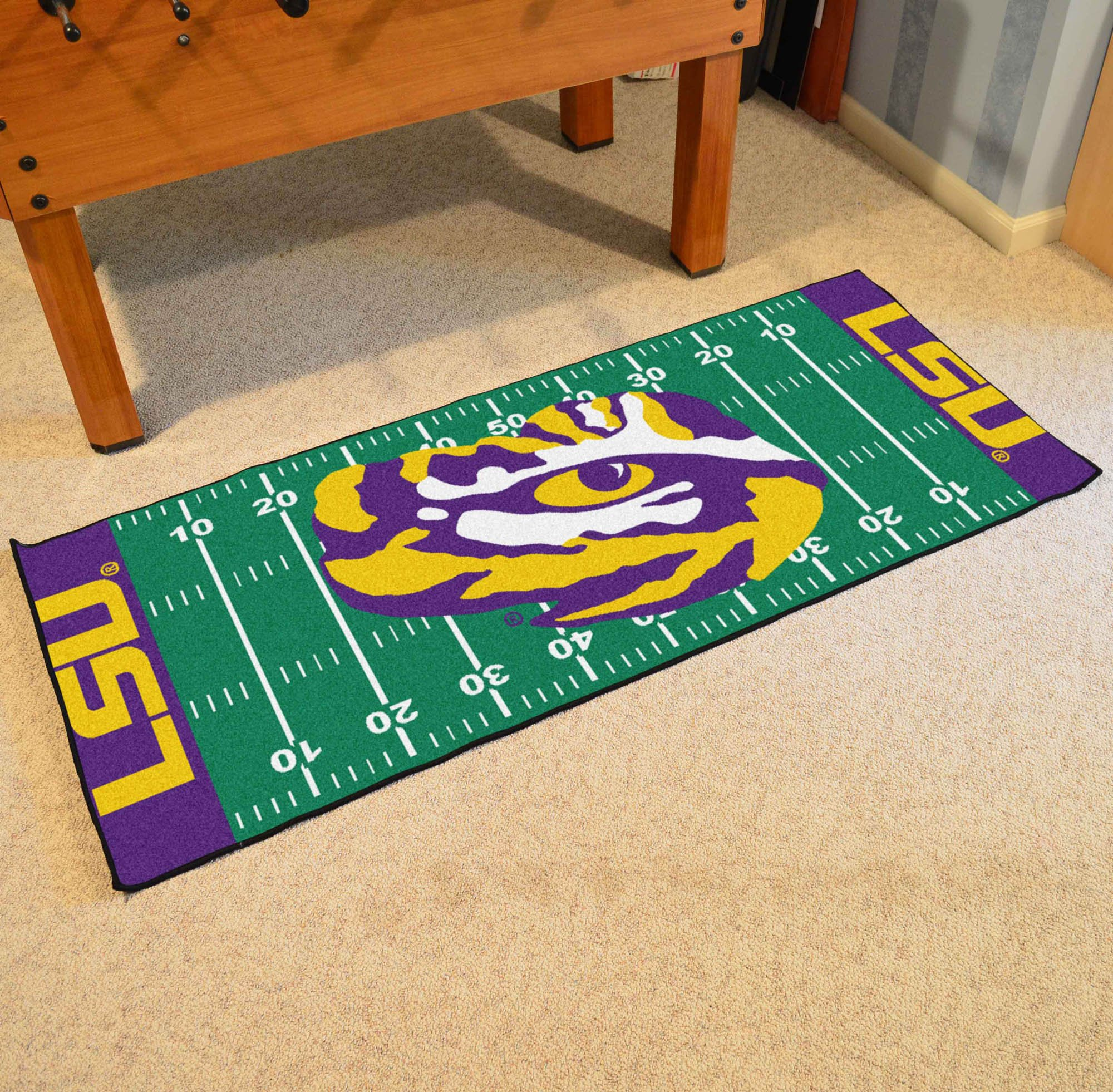 NCAA Louisiana State University Tigers Football Field Runner Mat Area Rug by Unknown (Image #2)