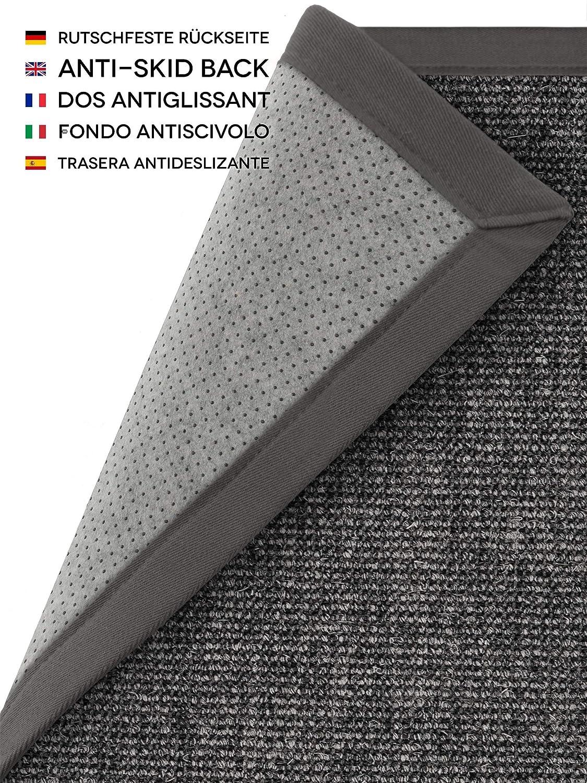 Benuta Sisal Bordüre, Teppich mit Bordüre, Sisal Jute, Grau, 150 x 150.0 x 2 cm 87a9d1