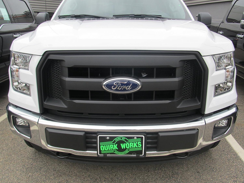 2015-2016 Ford F-150 Molded Carbon Black Grille Radiator /& Emblem OEM FL3Z8200AA